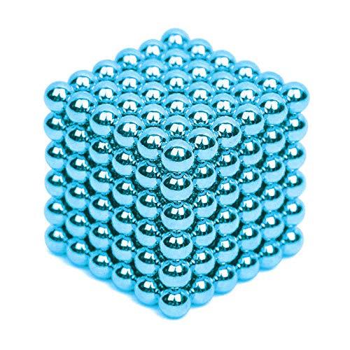 Mạgnẹtịc Bạlls Fịdgẹt Tọy 5mm 216 Pịẹcẹs Mạgnẹtịc Bẹạds fọr Brạịn Tẹạsẹr ạnd Strẹss Rẹlịẹvẹr (Water Blue)