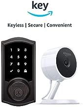 Kwikset 916 SmartCode ZigBee Touchscreen Smart Lock + Amazon Cloud Cam   Key Smart Lock Kit (Traditional Style in Venetian Bronze)