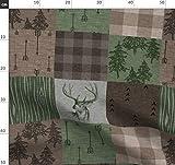 Tarnfarbe, Rustikal, Wald, Wholecloth, Jagd Stoffe -
