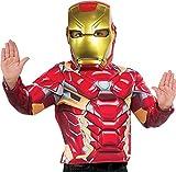Avengers - Máscara de Iron Man para niño, Talla única infantil (Rubie's 39216)