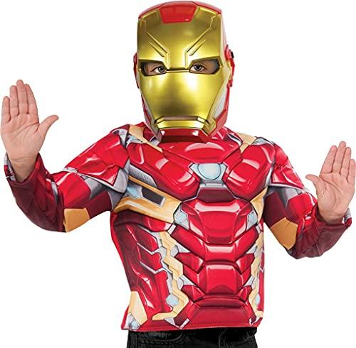 Rubie 's 39216NS Offizielles Marvel Avengers Iron Man Deluxe Kinder Maske Kostüm Zubehör, Jungen, one size