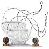7.5'' Self Watering Hanging planters for Indoor Plants - Flower Pot...