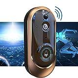 Smart Home Timbre Timbre de la Puerta de vídeo del Gato de Ojos Set inalámbrico Wi-Fi Inteligente de vídeo Timbre de la Puerta de intercomunicación de Monitoreo Remoto