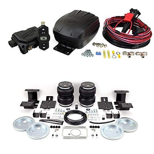 Air Lift 25980 57284 Set of Wireless One Single Path On-Board Air Compressor System with Rear Load Lifter 5000 Kit for 15-18 Ford F-150 Pickup 4WD