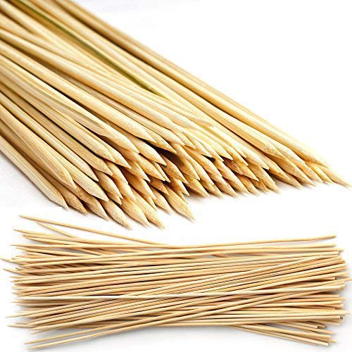 MATANA 500 Pinchos de Bambú Naturales,15 cm - Brochetas de Barbacoa para Parrilla y Aperitivos de Fiesta, Kebabs, BBQ, Frutas, Fondues de Chocolate Seguro, Confiable y Duradero