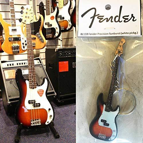 Precision Sunburst Schlüsselanhänger, Gitarre, Bass Fender (weißer Pickguard)