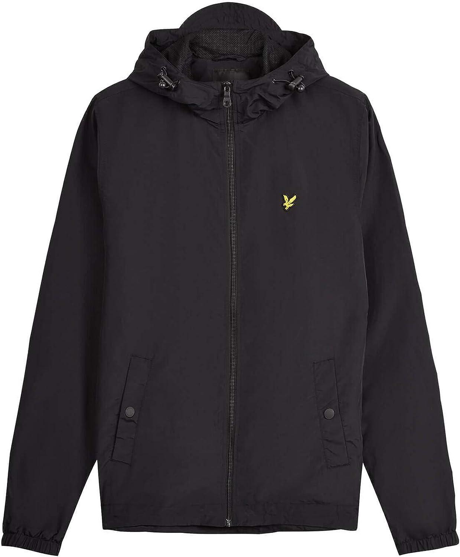 Lyle and Scott Zip Through Hooded Jacket in Black coat