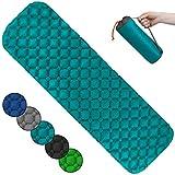 ALPIDEX Colchoneta Camping Esterilla Inflable Camping 190 x 57 x 5 cm Portatil Ligero, Color:Turquoise