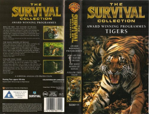 The Survival Collection - Tigers - Ring of Fire, The Nature of Russia; The Many Moods of Manas; Follow That Tiger [1993] [VHS]