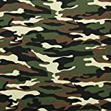 Megan Blue Jersey mit Camouflage-Muster, Tarnstoff