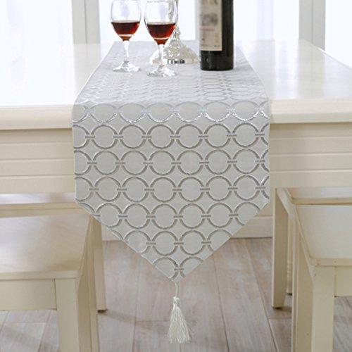 TABLE RUNNER Eenvoudige Bronzen Tafelvlag Europese stijl luxe tafelkleed klassieke Wild salontafel decoratie Huismeubels Zilver