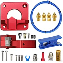 Upgrade 3D Extruder with XS Bowden Tubing, Tube Cutter?Upgraded Metal Feeder Extruder Frame,4pcs Extruder Nozzles for for Ender 3/3 Pro/5 CR-10 Series/10S/20/20 Pro