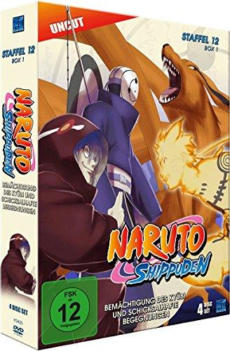 Naruto Shippuden - Staffel 12 - Box 1: Bemächtigung des Kyubi und schicksalhafte Begegnungen (Episoden 463-487, Uncut) [4 DVDs]