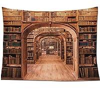 ND インテリア タペストリー おしゃれ 本棚 本 棚 レトロ ヴィンテージ だまし絵 大きい 壁 インテリア (デザイン4)