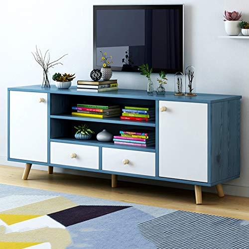 Mueble de TV universal simple,Centro de entretenimiento de consola de almacenamiento de madera moderno y simple,Mueble de almacenamiento para TV con estantes y cajones abiertos,Para salón y dormitor
