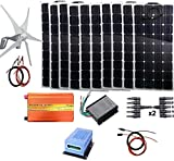 Turbina de Viento, 1,4 kW Energía Eólica Solar (1400W Sistema...