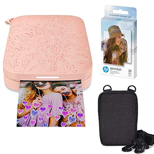 HP Sprocket Portable 2x3 Instant Photo Printer (Blush Pink) Zink Paper Bundle