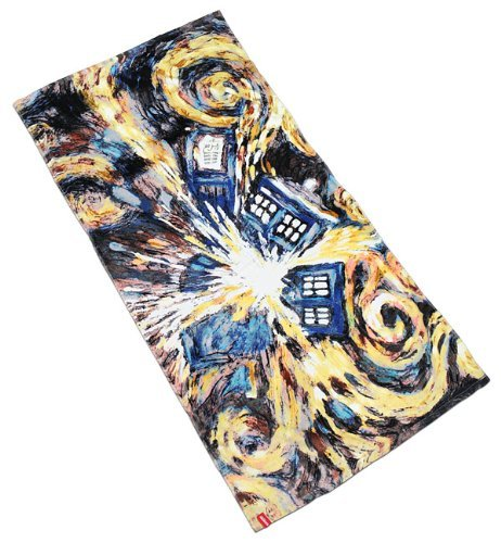 Doctor Who Van Gogh Exploding Tardis Pandorica Towel