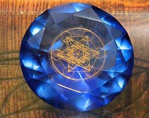 Panotophia Tachyonen Diamant Metatron blau 45 Energie Heilige Geometrie Michael 6. Chakra