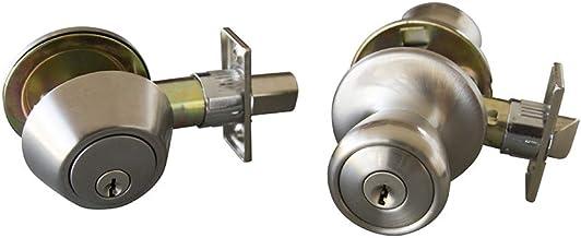 Design House Terras 6-voudige vergrendeling huisdeur knop en grendel Combo, 728683