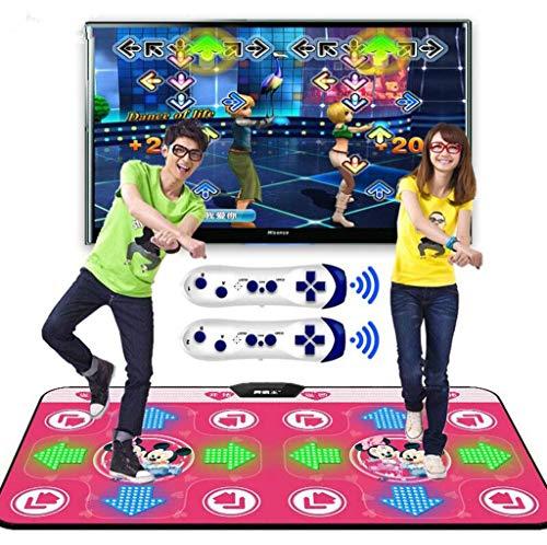 HYZXK Alfombra de Baile Doble, Videojuegos Alfombrillas de Baile Almohadillas Alfombrilla de Juego Musical aplicable a Adultos/niños, Alfombra de Baile Somatosensorial 3D inalámbrico d