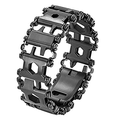 Pena Multi-Tool Bracelet,Stainless Steel Wearable Tread Bracelet with 29 Functions Tool for Travel/Camping/Hiking Outdoor Emergency Kit