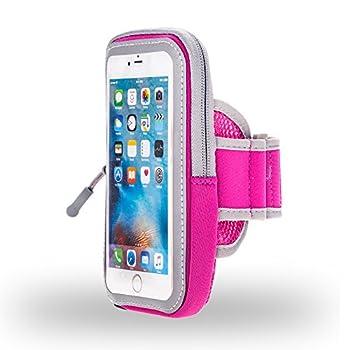 Ooutdoor Sweatproof Running Sport Gym Armband case for Samsung Galaxy Note 10 / A10 / A20 / A50 / Razer Phone 2 / Xiaomi Redmi Note 7 / BLU G9 / Motorola Moto G7 Play/OnePlus 7  Pink
