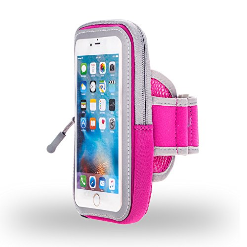 Premium Rose Running Sport Gym Reißverschluss Armband für Motorola Moto Z Play/G4Plus/Moto M/X Style/Force/HONOR 74G UK/BLU Vivo 5R/Life Mark/oukitel K6000Pro