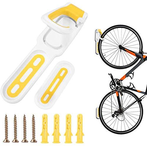 Caballetes para Bicicletas, Soporte Bicicletas Pared - Gancho para Colgador de Garaje para Bicicleta - Soporte de Pared Plegable para Bicicletas (D)