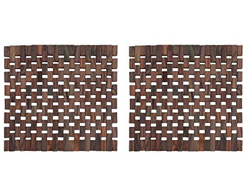 Creative Tops Lot de 2 Sets de Table avec Lames en Bois foncé