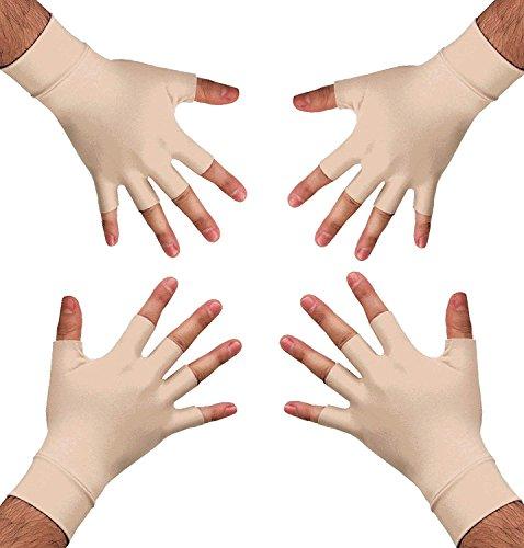 Medipaq Guantes para la Artritis - Guantes de Terapia - 2 x Pares - Guantes de Compresión Controlada que Aumentan la Circulación Sanguínea - Elija entre Talla Mediana o Grande