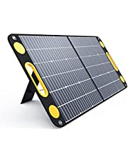 Togo Power 100W Portable Foldable Solar Panel Charger for Baldr/Jackery/GoalZero/Paxcess Power Station Generator with Dual USB Ports & 18V DC Output for RV Boat Laptop Tablet iPhone iPad Camera Lamp