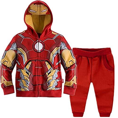 Amacigana Spiderman Hoodies Superhéroe Iron Man Hulk Capitán América Sudadera para niño, Iron Man1., 8 años