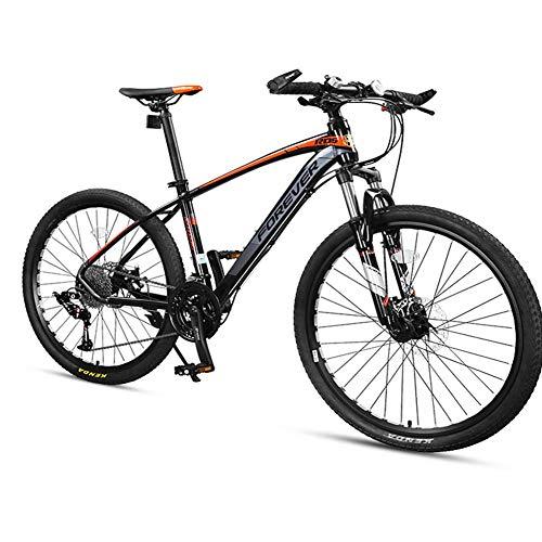 DJYD 33-Speed Mountain Bikes, Männer Aluminiumrahmen Scheibenbremse Hardtail Mountainbike, Damen-Gebirgsfahrrad, All Terrain Mountainbike, Grau, 27,5 Zoll FDWFN (Color : Grey, Size : 26 Inch)