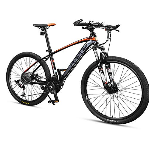 DJYD 33-Speed ​​Mountain Bikes, Männer Aluminiumrahmen Scheibenbremse Hardtail Mountainbike, Damen-Gebirgsfahrrad, All Terrain Mountainbike, Grau, 27,5 Zoll FDWFN (Color : Grey, Size : 27.5 Inch)