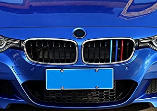 BizTech /® Clip In Grille Inserts Compatible with BMW 4 Series F32 F33 2014-2018 9 Beams Stats Bars M Power M Sport Tech Bonnet Hood Kidney Stripes Cover