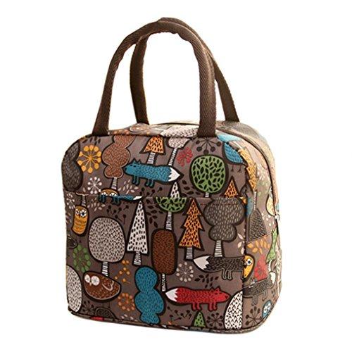 Almuerzo Tote trabajo sunnymi & # x1F338; aislado almuerzo bolsa Niños & # x1F338; Nylon Plástico con Many estilo Agua Densidad Gourmet Picnic, café, 32*22*10cm