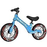 GASLIKE Bicicleta de Equilibrio para niños, sin Pedales, Ruedas de 12/14 Pulgadas, Asiento Ajustable, Primera Bicicleta para niños de 2-8 años de Edad, Estable y Segura,D 12inch Blue