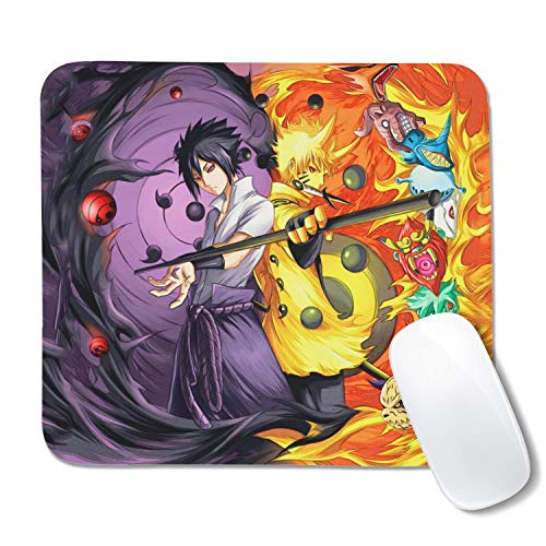 Naruto Mouse Pad Anime Gaming Mouse Pad Anti-Slip Rubber Bottom Mouse Mat(10.5x12.5x0.12 inches)