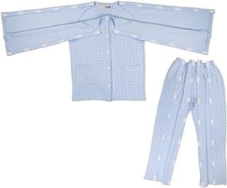 Baoblaze Baumwolle Bequeme Pflegekleidung Pflegehemd Krankenhemd Patientenhemd mit Klettverschluss für Krankenhaus Patient Pflege - XXL