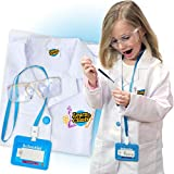 Lab Coat for Kids - Children's lab Coat with Adjustable Glasses & Personalized ID Card. Great Toy for Science Projects & Experiments