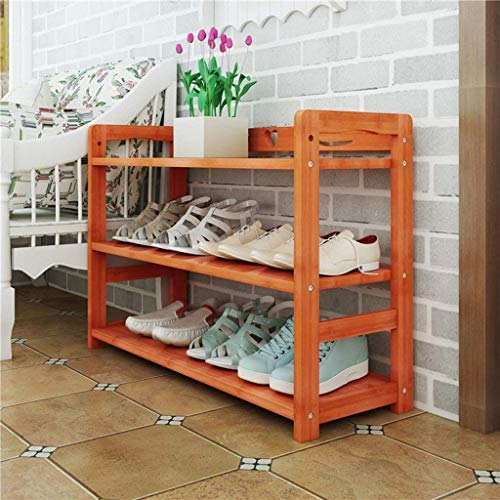 WLGQ Zapatero para Zapatos a Prueba de Polvo, gabinete de vestíbulo de Madera Maciza, Zapatero de Color Caoba, Zapatero a Prueba de Polvo para el hogar (tamaño: 60 cm)