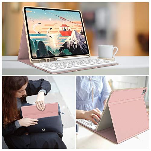 iPad Pro 12.9 Case with Keyboard 2018 Magnetically Detachable Wireless Keyboard, DB