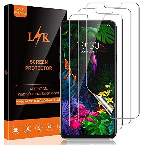 L K [3 Stücke Schutzfolie Bildschirmschutzfolie für LG G8 thinQ, Klar HD Weich Folie Nicht Glas [Blasenfreie] [Premium-Qualität] [Kompatibel mit Hülle] Schutzfolie