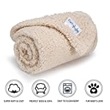 furrybaby Premium Fluffy Fleece Dog Blanket, Soft and Warm Pet Throw for Dogs & Cats (Small (2432'), Beige Blanket)