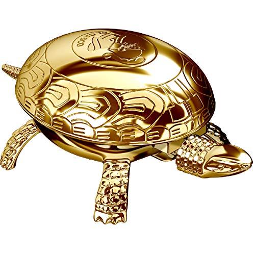EL CASCO M-700 L Presse-papier et cloche de table – Tortue en or 23 carats