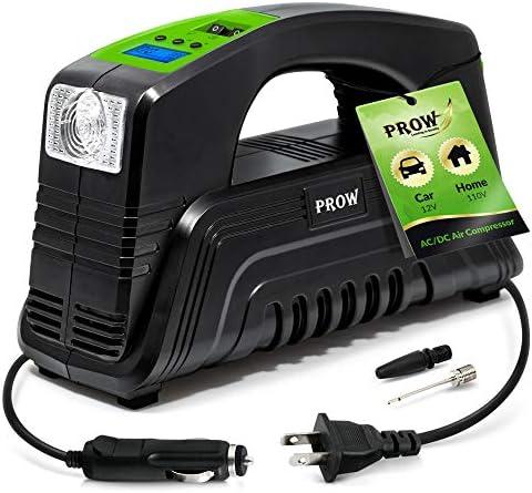 PROW Electric Air Compressor Tire Inflator AC DC Portable for Car DC 12V Home AC 110V Upscale product image
