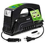 PROW Electric Air Compressor Tire Inflator AC/DC Portable for Car – DC 12V, Home – AC 110V, Upscale, with Digital Pressure Gauge, Air Pump for Car Tires, Motorcycle, Bike, Basketball and More