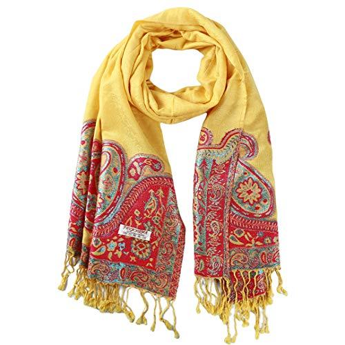TXSD Retro Ethnische Geometrische Quaste Schal Weibliche Herbst und Winter Baumwolle und Leinen bestickte Cashewnüsse Schal
