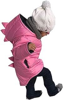 Chaqueta Bebé Niño con Capucha Abrigo Invierno Ligero con Diseño Animados Dinosaurio para Chicos 1-7 Años Ropa Invierno de...